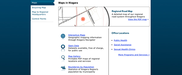 Maps in Niagara