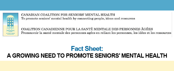 fact sheet: growing need to promote seniors' mental health